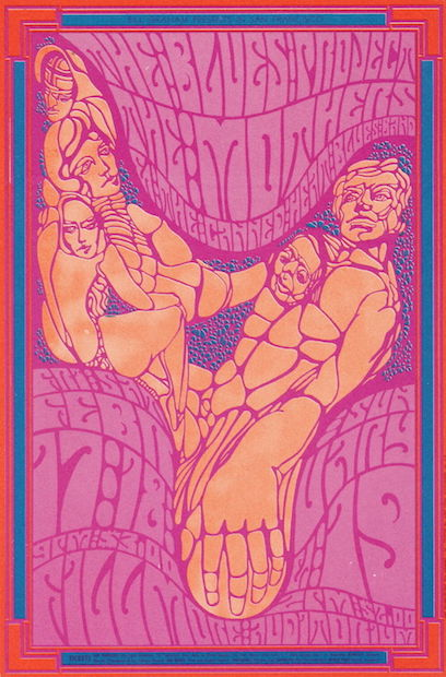 1967 Zappa & The Mothers / Blues Project - Fillmore Concert Poster by Wes Wilson