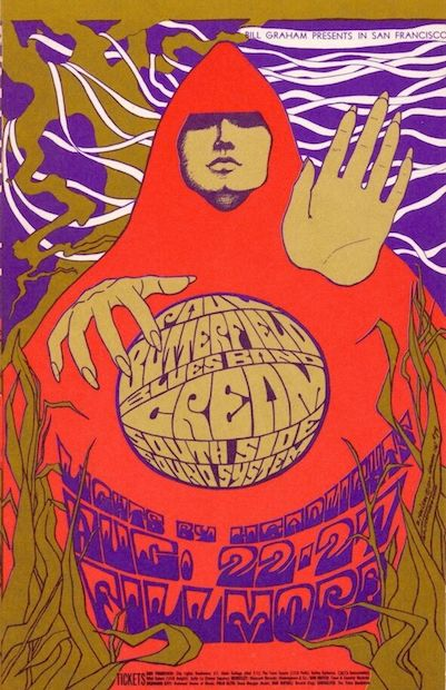 1967 Cream / Butterfield Blues Band - Fillmore Concert Poster by Bonnie McLean