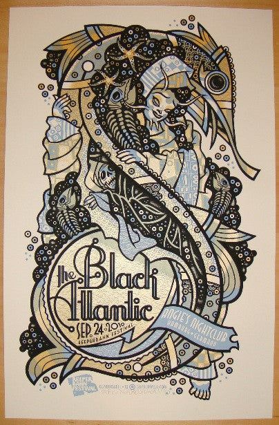 2010 The Black Atlantic - Hamburg Concert Poster by Guy Burwell