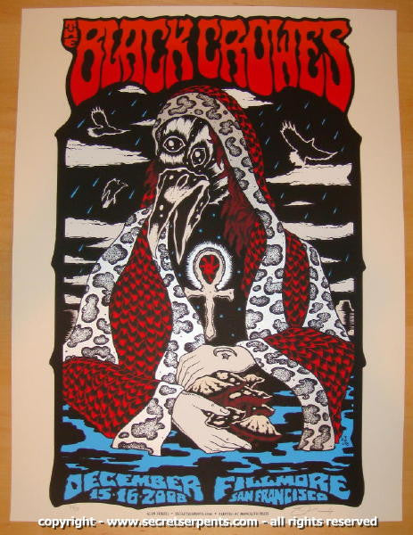 2008 The Black Crowes - Fillmore Concert Poster by Alan Forbes
