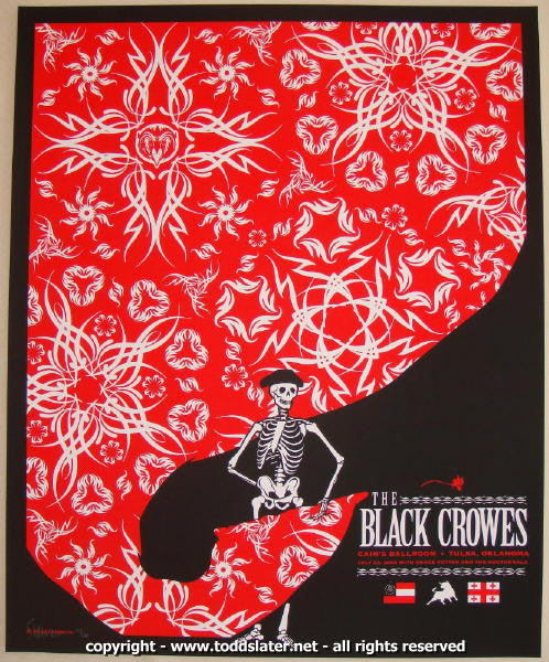 2008 The Black Crowes Silkscreen Concert Poster by Todd Slater