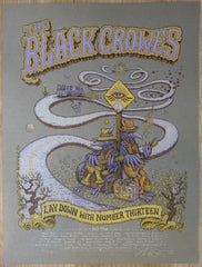 2013 The Black Crowes - Spring Tour AE Silkscreen Concert Poster by Marq Spusta