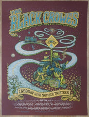 2013 The Black Crowes - Spring Tour Plum Silkscreen Concert Poster by Marq Spusta