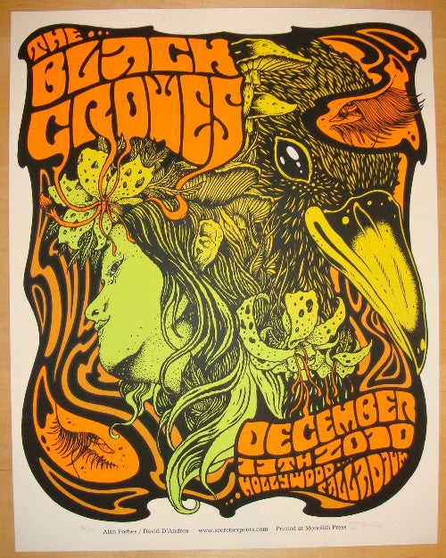 2010 The Black Crowes - LA Concert Poster by Forbes/D'Andrea