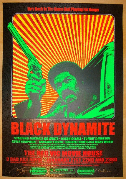 "2010 ""Black Dynamite"" - Movie Poster by Dave Hunter & Firehouse"