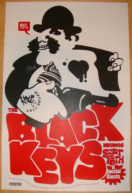 2005 The Black Keys - Seattle Concert Poster by Smokestack