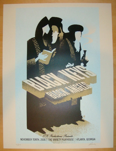 2006 The Black Keys - Atlanta Concert Poster by Methane