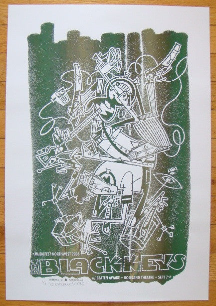 2006 The Black Keys - Portland Mono Print by Guy Burwell