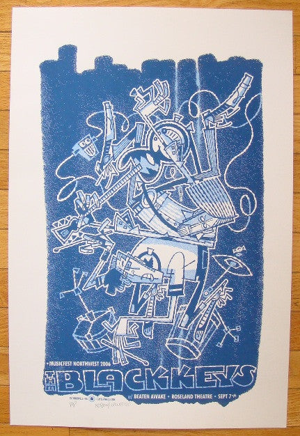 2006 The Black Keys - Portland Concert Poster by Guy Burwell