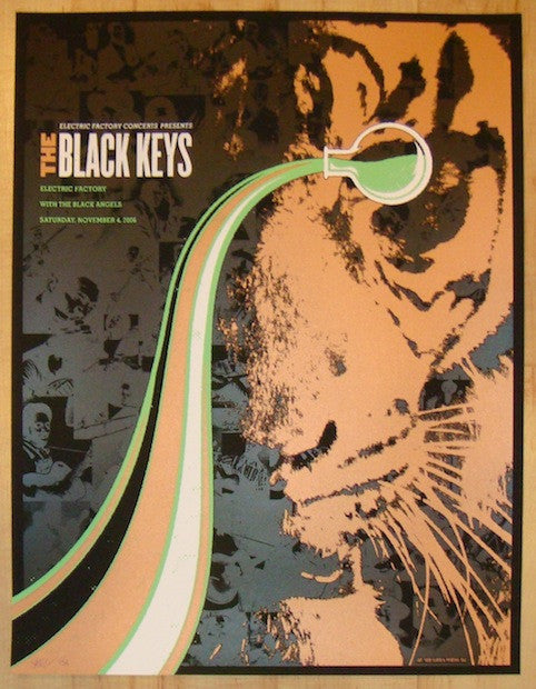 2006 The Black Keys - Variant Concert Poster by Todd Slater
