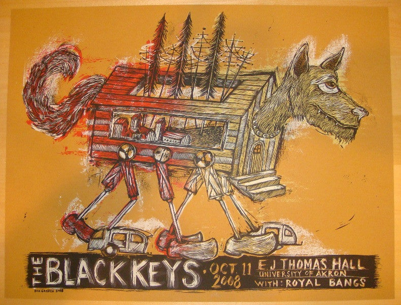 2008 The Black Keys - Akron Concert Poster by Dan Grzeca