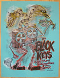 2008 The Black Keys - Brooklyn Concert Poster by Dan Grzeca