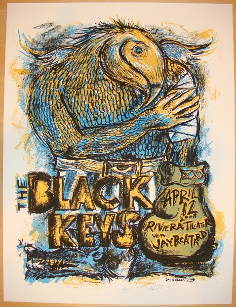 2008 The Black Keys - Chicago I Concert Poster by Dan Grzeca
