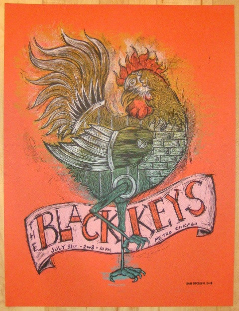 2008 The Black Keys - Chicago II Concert Poster by Dan Grzeca
