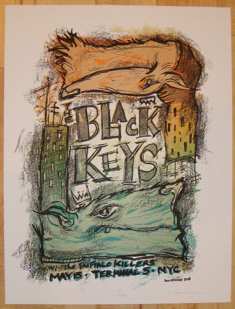 2008 The Black Keys - NYC Concert Poster by Dan Grzeca