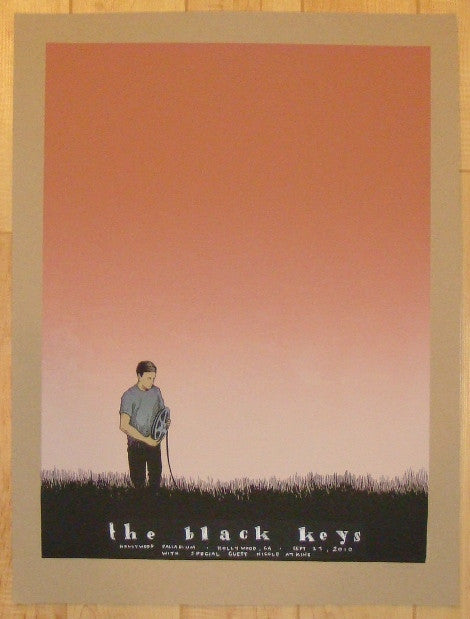 2010 The Black Keys - Hollywood I Silkscreen Concert Poster by Justin Santora