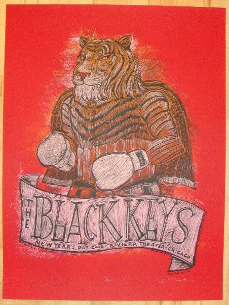 2010 The Black Keys - Chicago Concert Poster by Dan Grzeca