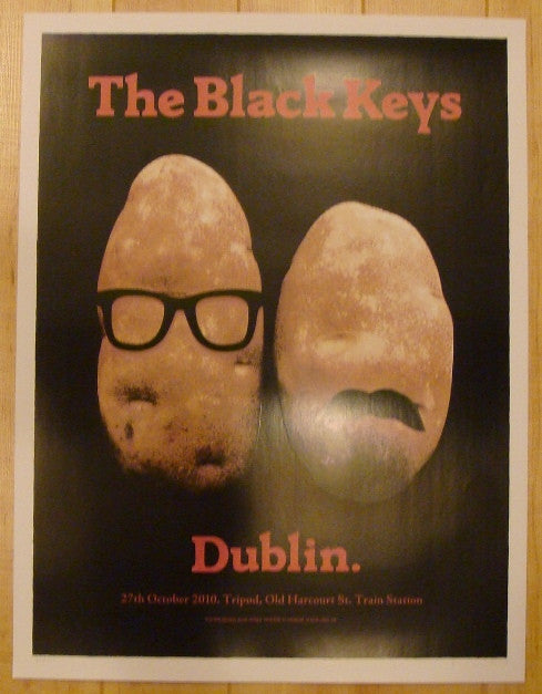 2010 The Black Keys - Dublin Concert Poster by Hynes & Firehouse