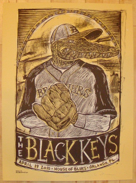 2010 The Black Keys - Orlando Concert Poster by Dan Grzeca