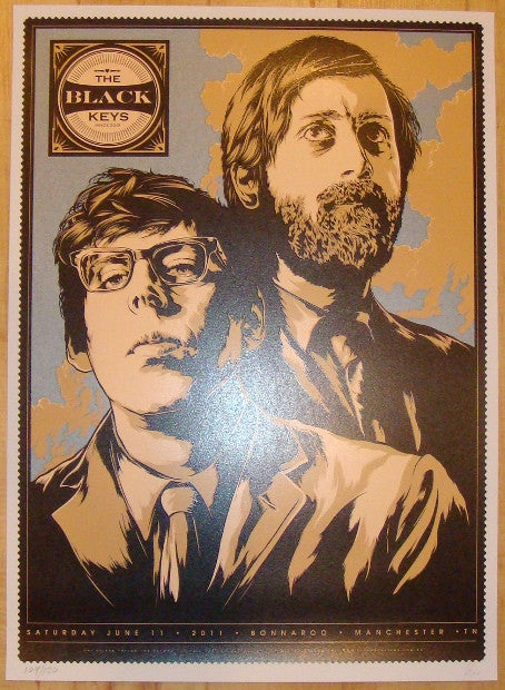 2011 The Black Keys - Bonnaroo Concert Poster by Ken Taylor