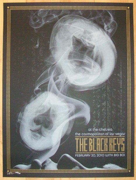 2011 The Black Keys - Las Vegas II Concert Poster by Todd Slater