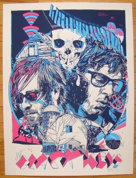 2011 The Black Keys - Winnipeg Concert Poster by Tyler Stout