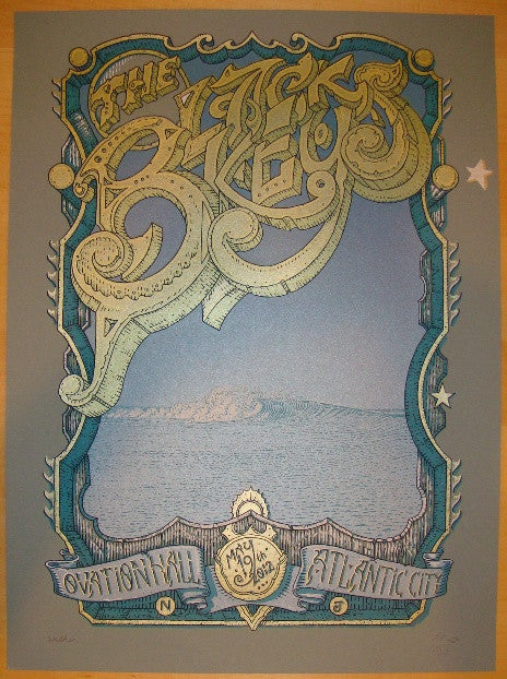 2012 The Black Keys - Atlantic City Concert Poster by Welker