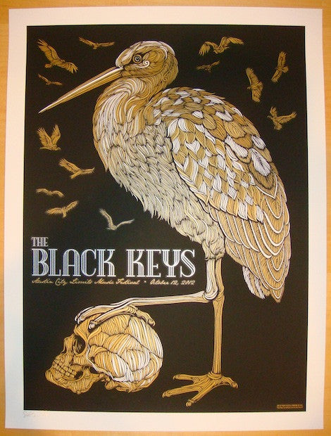 2012 The Black Keys - ACL Festival Variant Poster by Todd Slater