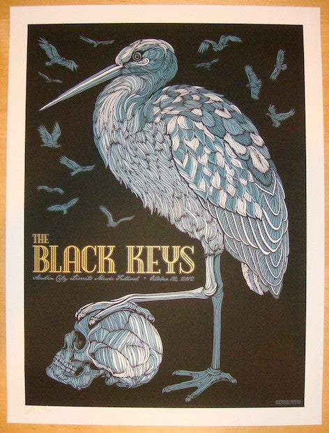 2012 The Black Keys - ACL Festival Concert Poster by Todd Slater