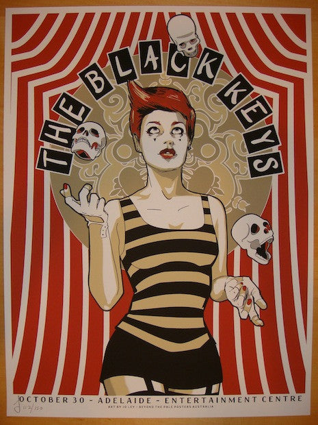 2012 The Black Keys - Adelaide Concert Poster by Jo Ley
