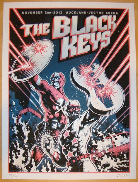 2012 The Black Keys - Auckland Variant Poster by Blair Sayer