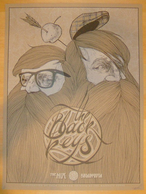 2012 The Black Keys - Birmingham Concert Poster by Zach Landrum