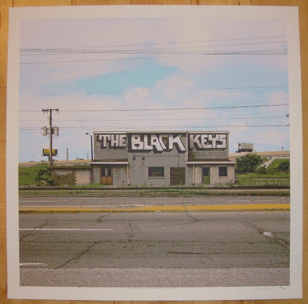 2012 The Black Keys - Merriweather Concert Poster by Crosshair