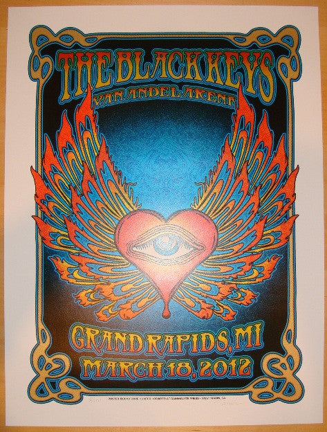 2012 The Black Keys - Grand Rapids Concert Poster by Dave Hunter