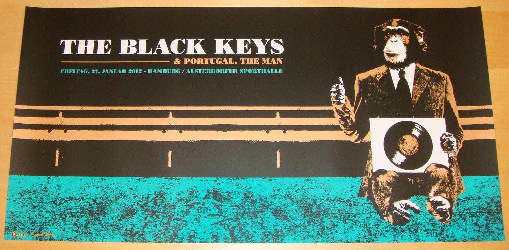 2012 The Black Keys - Hamburg Concert Poster by Grace Helly