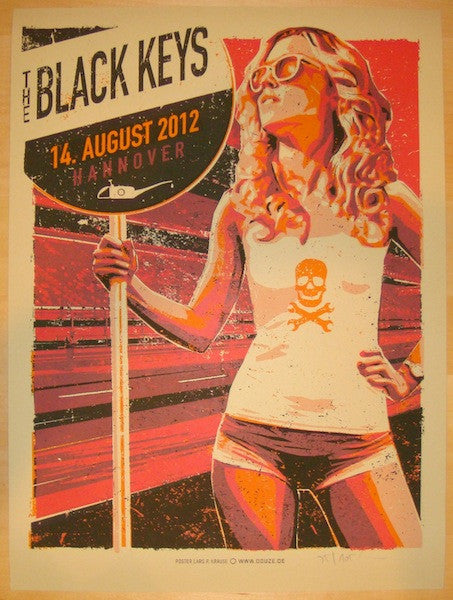 2012 The Black Keys - Hannover Concert Poster by Lars Krause