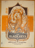 2012 The Black Keys - Manchester II Concert Poster by Millward