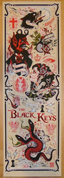 2012 The Black Keys - Melbourne II Variant Poster by Rhys Cooper