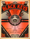 2012 The Black Keys - NYC II Concert Poster by Shepard Fairey