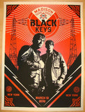 2012 The Black Keys - NYC I Concert Poster by Shepard Fairey