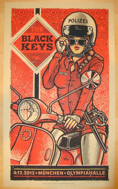 2012 The Black Keys - Munich Concert Poster by Lars Krause