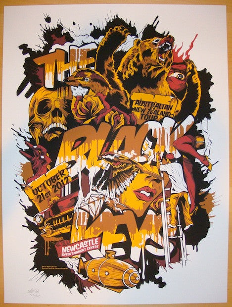 2012 The Black Keys - Newcastle Concert Poster by Alex Lehours