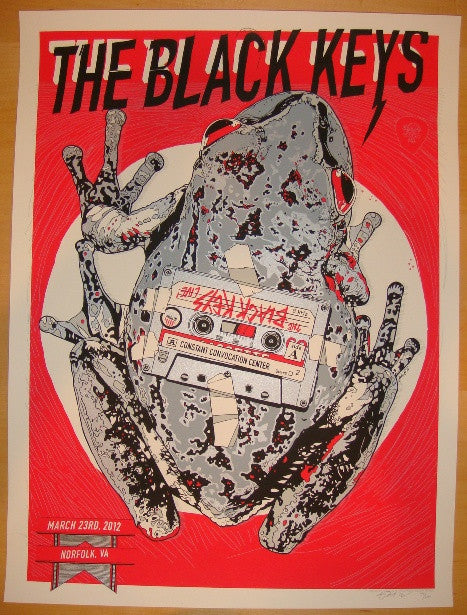 2012 The Black Keys - Norfolk Concert Poster by Tyler Stout