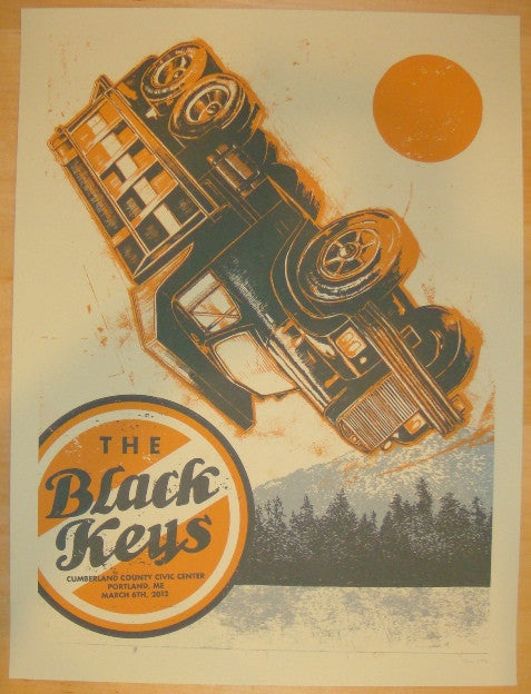 2012 The Black Keys - Portland, ME Concert Poster by John Vogl