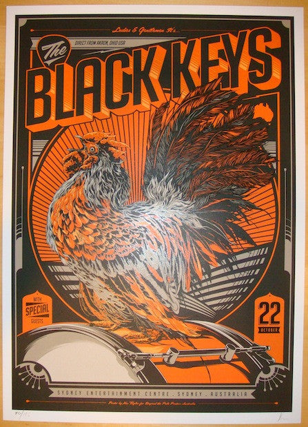 2012 The Black Keys - Sydney I Concert Poster by Ken Taylor