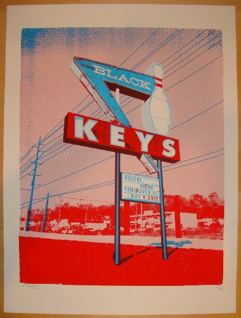 2012 The Black Keys - Vancouver Concert Poster by Vastagh