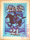 2014 The Black Keys - Kansas City Variant Silkscreen Concert Poster by Tom Whalen
