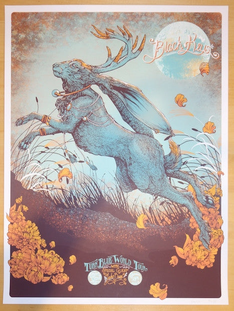 2014 The Black Keys - Minneapolis Silkscreen Concert Poster by Erica Williams