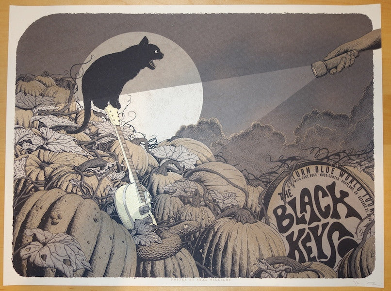 2014 The Black Keys - Portland Variant Poster by Neal Williams