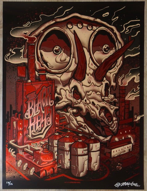 2019 The Black Keys - Milwaukee Red Foil Variant Concert Poster by Munk One